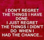 What Will You Regret?